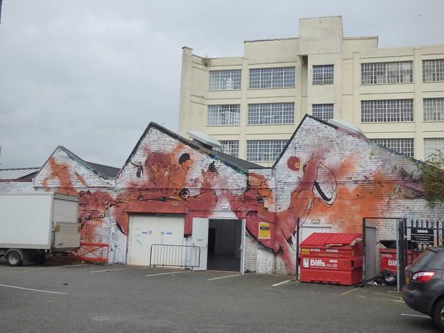 High Vis Fest Digbeth street art - Custard Factory - Zellig Car Park - Anime