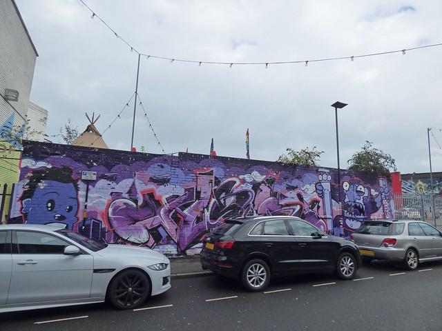High Vis Fest Digbeth street art - Lower Trinity Street - BT monster grabber
