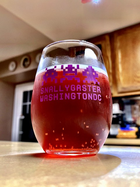 Home-brewed Blueberry Mead In A Snallygaster Beerfest Glass