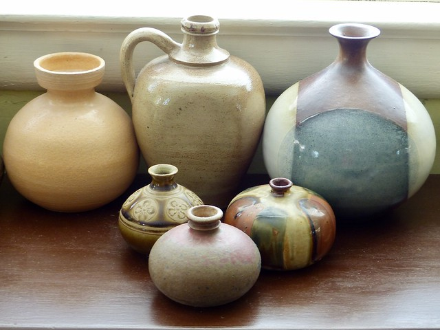 414. Some of pottery collection in our home