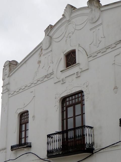 Façade, Olivenza, comarque des Llanos de Olivenza, province de Badajoz, Estrémadure, Espagne.