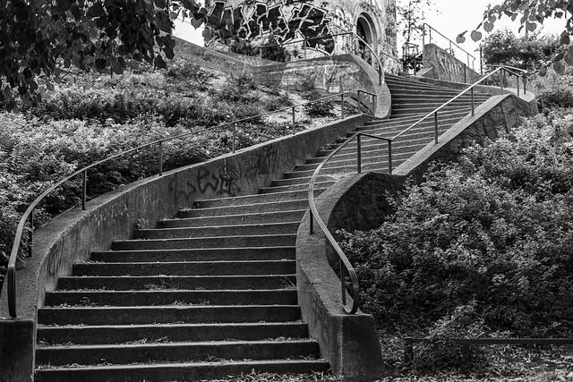 Stairs to Bricks and Water