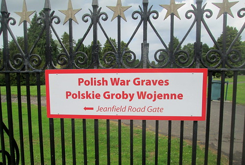 Polish War Graves Sign, Jeanfield and Wellshill Cemetery Perth