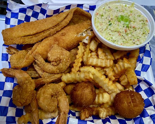flounder shrimp combo