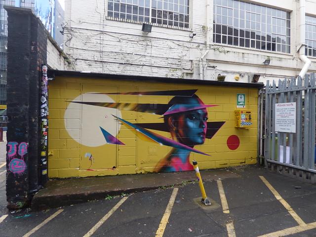 High Vis Fest Digbeth street art - Custard Factory - JB