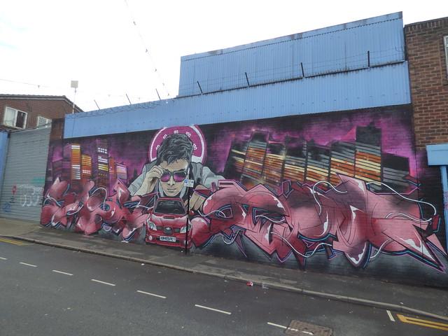 High Vis Fest Digbeth street art - Lower Trinity Street - HBR