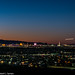 The Strip at Sunset with Aircraft, Las Vegas, 2021-10-15