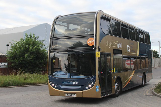 15952 YN14OXC  Seen ariving back at Stagecoach's Cambridge Depot after a days work (27/08/21)