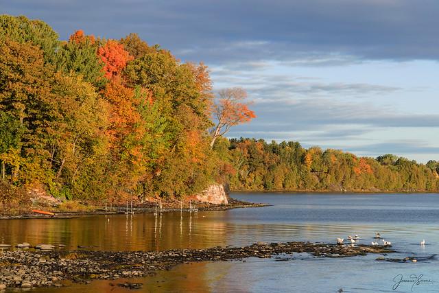 Fall colors along Lake Champlain, Vermont 🍁