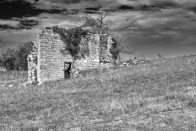 Rural Kansas House Ruins