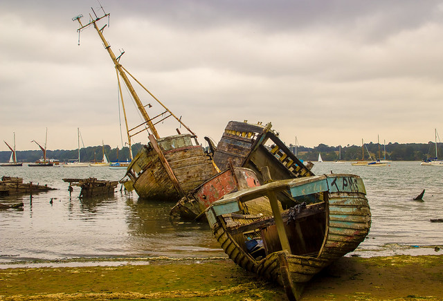 Wrecks at Pin Mill, Suffolk [Explored 313 on Tuesday, October 19, 2021]