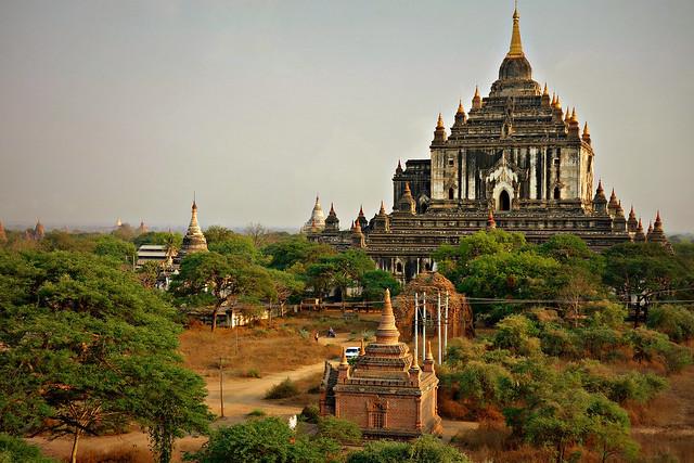 MYANMAR,Burma - Old-Bagan, Blick von einer Pagode auf die umliegenden Tempel und Pagoden, 78495/20092