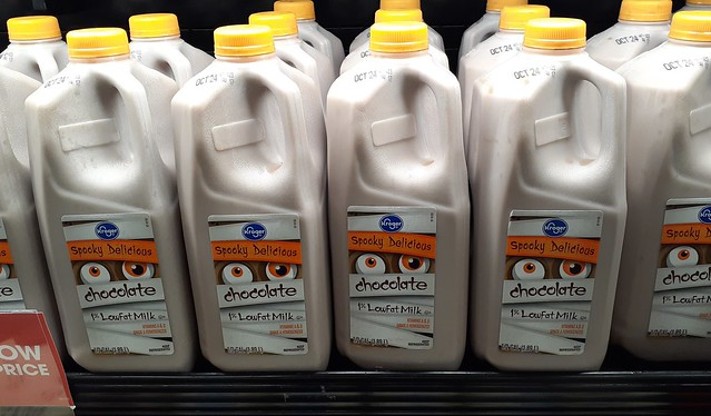 Spooky delicious (but doubtful it's really anything special, other than the new logo) Kroger chocolate milk