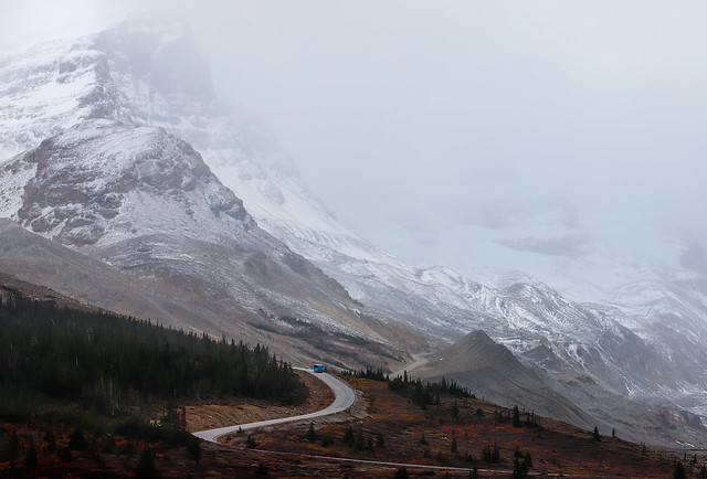 The road to the ice fields