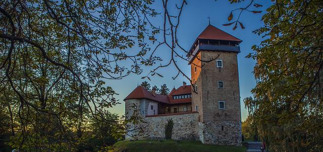 Golden hour, Dubovac Castle, Karlovac, Croatia.