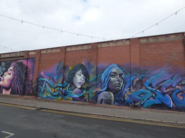 High Vis Fest Digbeth street art - Lower Trinity Street - Void One