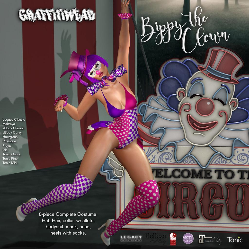 Bippy The Clown Costume