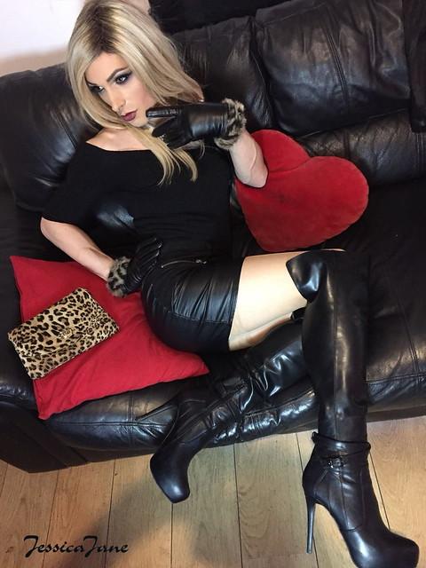 Black Leather Leopard