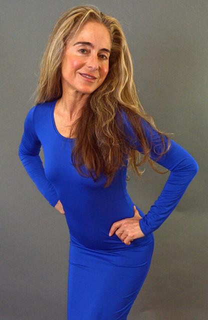 Tight blue dress (19)