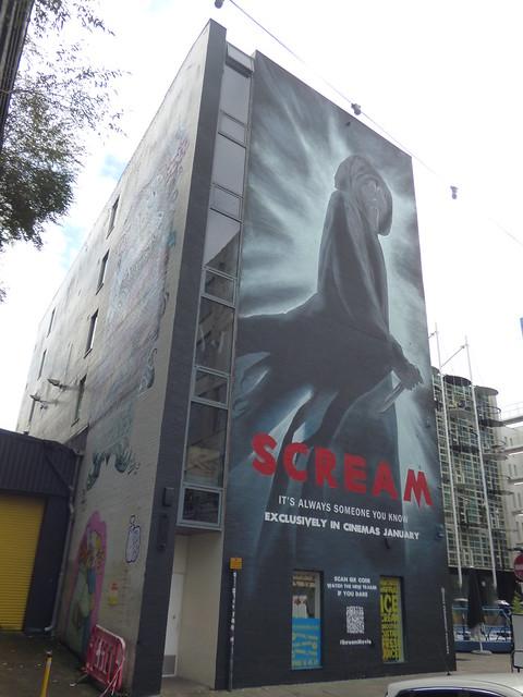 High Vis Fest Digbeth street art - Custard Factory - Scream 5