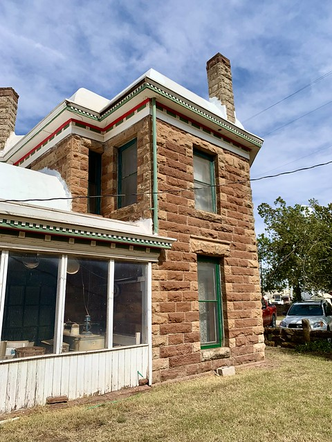 Side views of the Renfrow historic home in Billings, Oklahoma