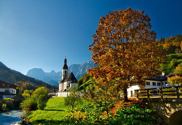 Ramsau, Berchtesgaden Alps, in autumn