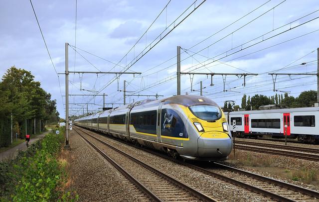 Eurostar 4029 naar Londen,raast Kontich voorbij!