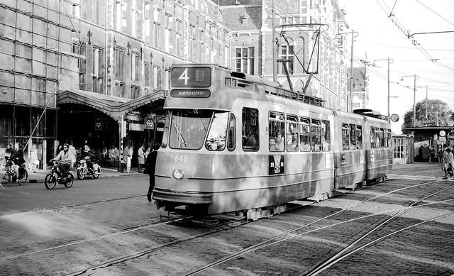 Grijze GVB trams