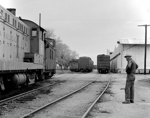 SP and Sierra Railroad interchange in Oakdale, CA.