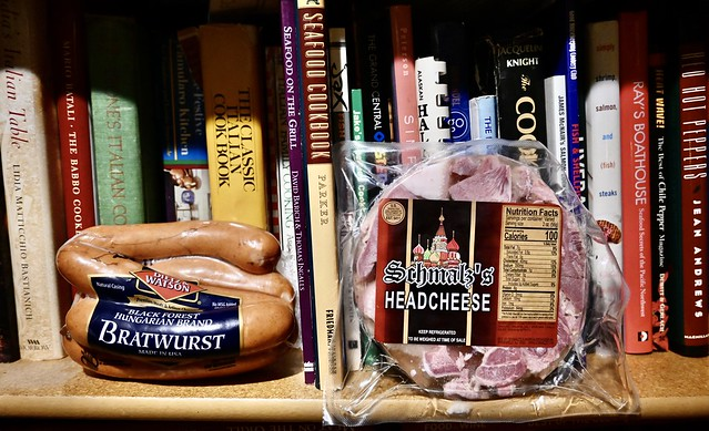 Why Are We Storing Dietz&Watson Bratwurst and Schmalz's Headcheese on the Shelf With Your Cookbooks? (I asked my wife)