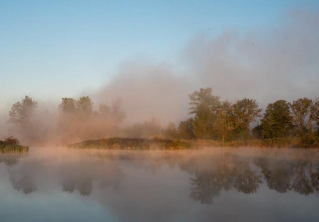 Morning sun chasing fog - explored 18-10-2021
