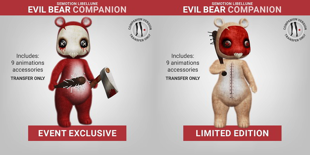 SEmotion Libellune Evil Bear Companion LIMITED