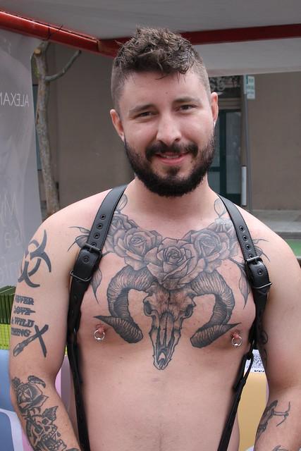 SEXY TAT'D HANDSOME BAD 'BOY' ! photographed by ADDA DADA ! ~ FOLSOM STREET FAIR 2021 !  (safe photo )