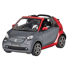 Norev Smart 453 Fortwo Cabrio A453 Model Car 1:43 Red/Grey