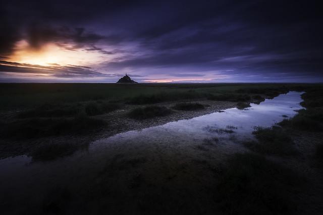 Sunset dans la Baie du Mont-Saint-Michel