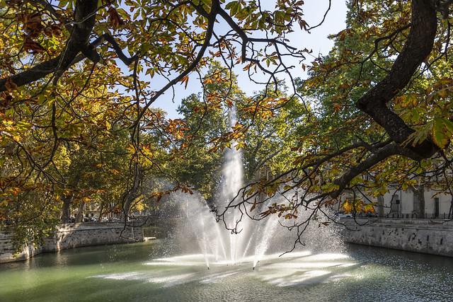 Le jet d'eau du quai de la Fontaine