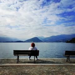 Pasear por la orilla del Lago Maggiore reconcilia con muchas cosas, incluso con la civilizaciu00f3n u00e9sa que dice @agustinswiss #TW #AlpineLake #TimeForTwo