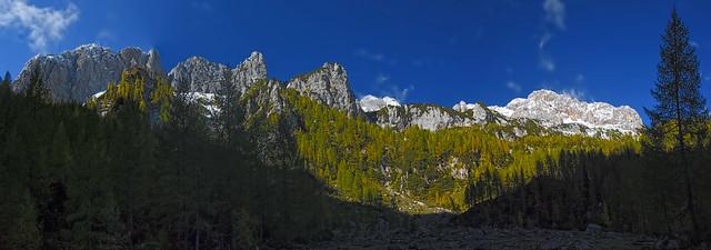 The mountains around Polje meadow