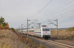 """DB 101 057 """"Europa"""" zieht Intercity durch Almstedt am 18.10.2021"""
