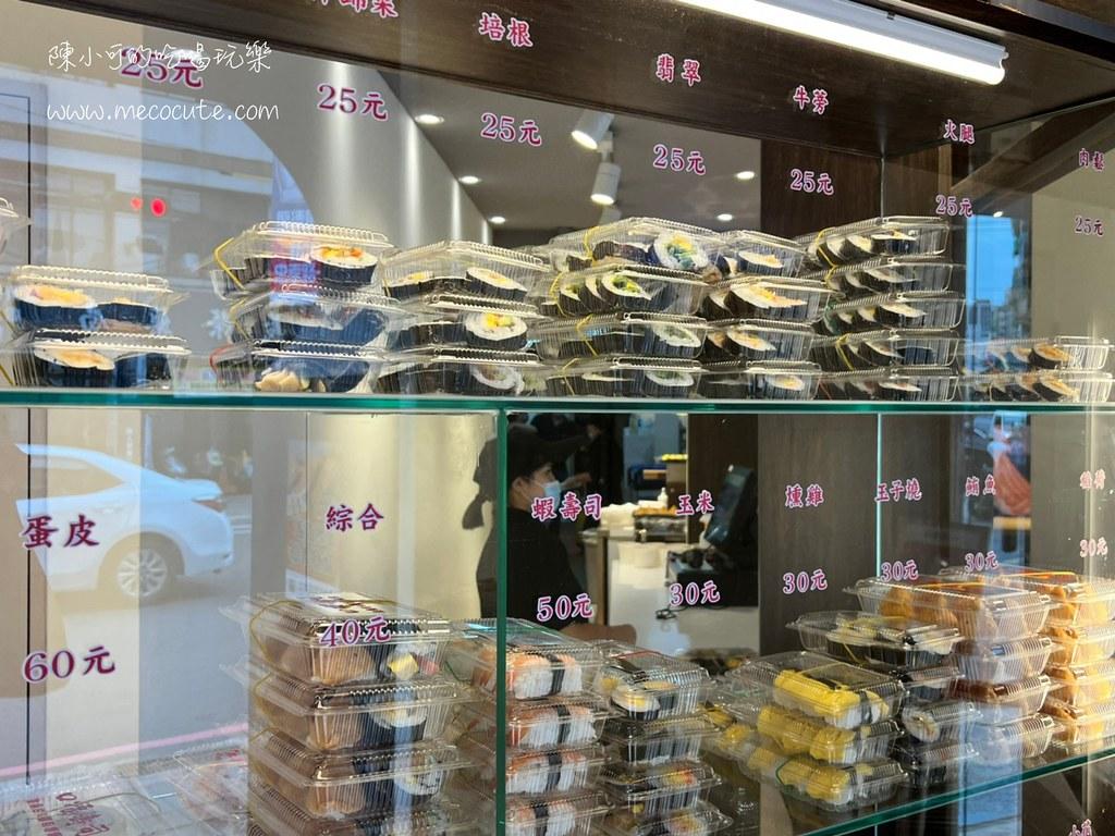 新開幕!一盒只要25元平價壽司好吃嗎?內用提供免費熱茶,三重口福壽司