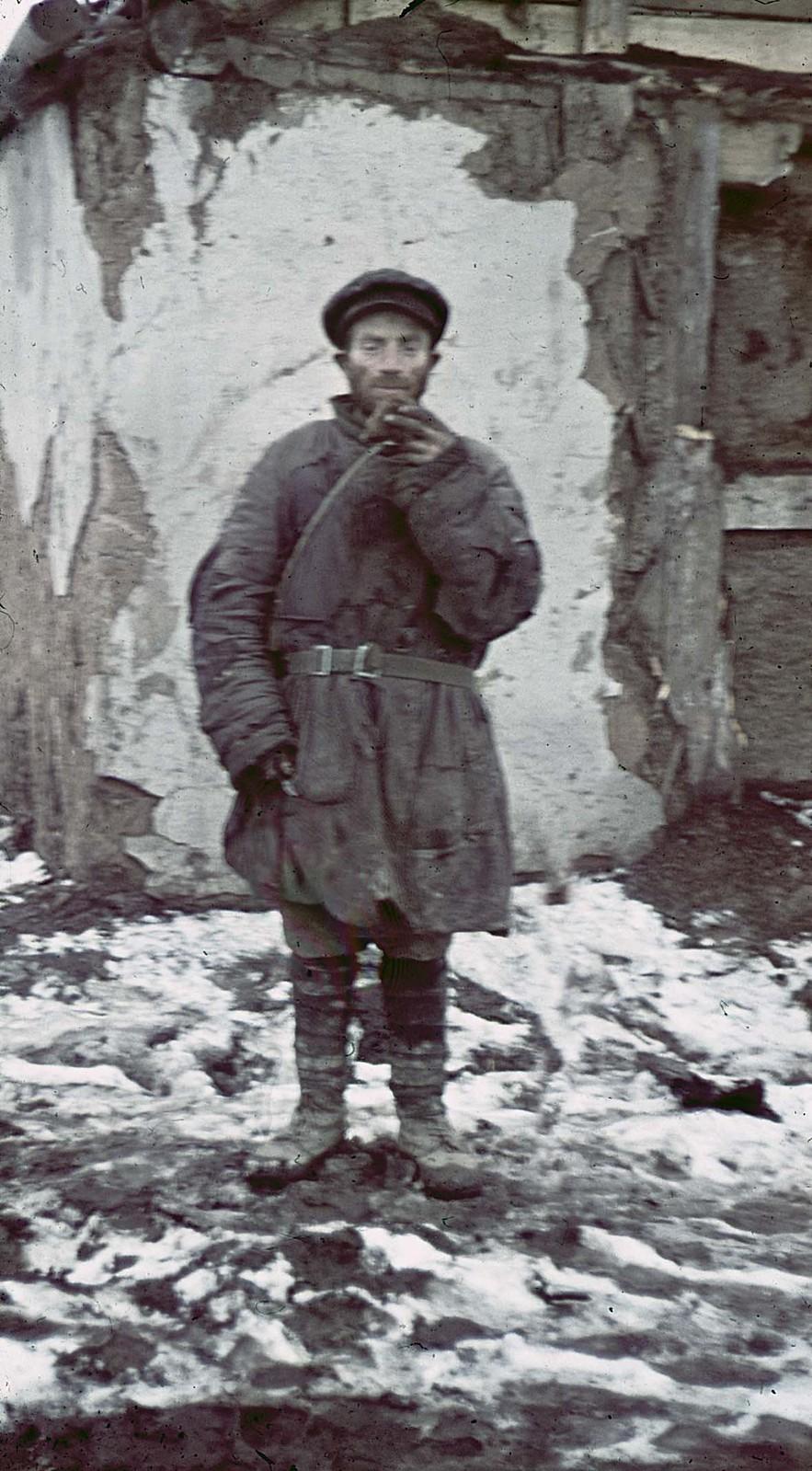 01. 1941. Советский военнопленный под Гжацком, декабрь