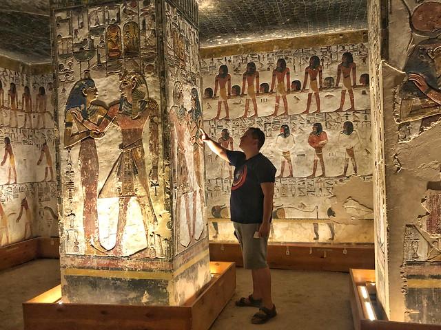 Sele en la tumba de Seti I en el Valle de los Reyes (Egipto)