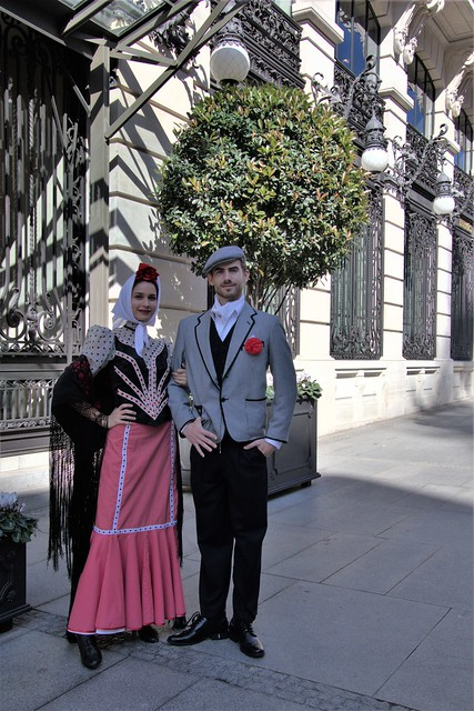 Representation of the majas and chulapos of Madrid of an important hotel in Madrid capital Spain.representacion de las majas y chulapos de madrid de un importante hotel de madrid capital españa.