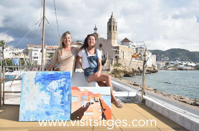 Muestra de pintura en el Club Nàutic Sitges