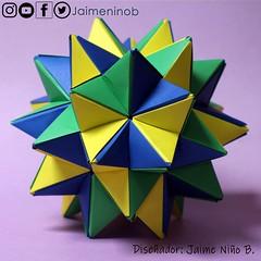 Kusudama: Icosaedro segunda estrella