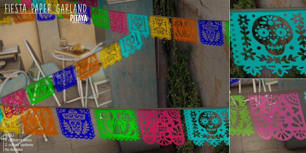Pitaya – Fiesta Paper Garland @ FLF-o-Ween