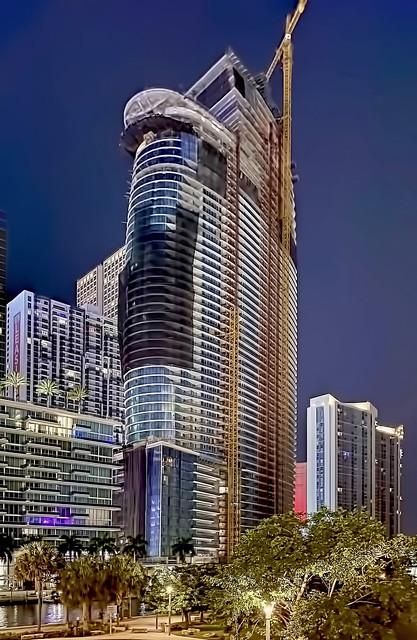 Aston Martin Residences, 300 Biscayne Boulevard Way, Miami, Florida, USA / Built: 2022 / Architect: BMA Arquitectos & Asociados; Revuelta Architecture International / Floors: 66 / Height: 817 ft / Building Usage: Condo / Architectural Style: Modernism