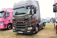 Scania R450 tractor unit, seen at the 2021 Peterborough Truckfest. PX68 KHD