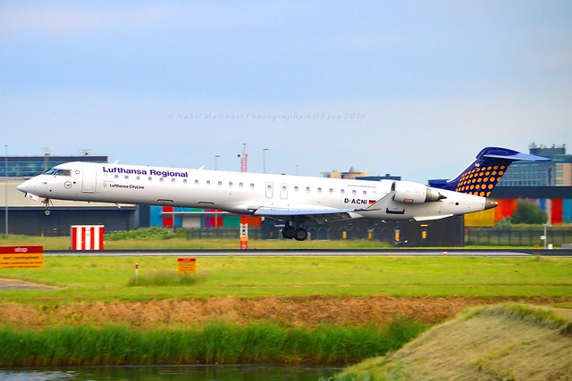 Lufthansa Cityline D-ACNI Bombardier CRJ-900LR (CL-600-2D24) cn/15248 opf Lufthansa Regional @ Kaagbaan EHAM / AMS 08-06-2016