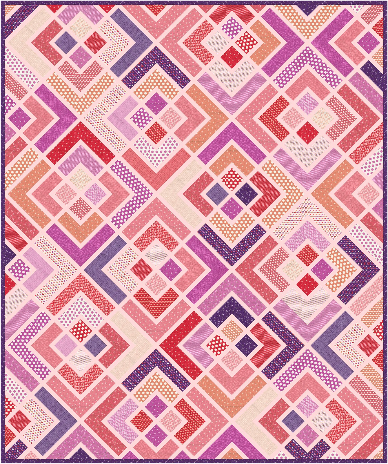 The Penny Quilt Pattern - Queen Size